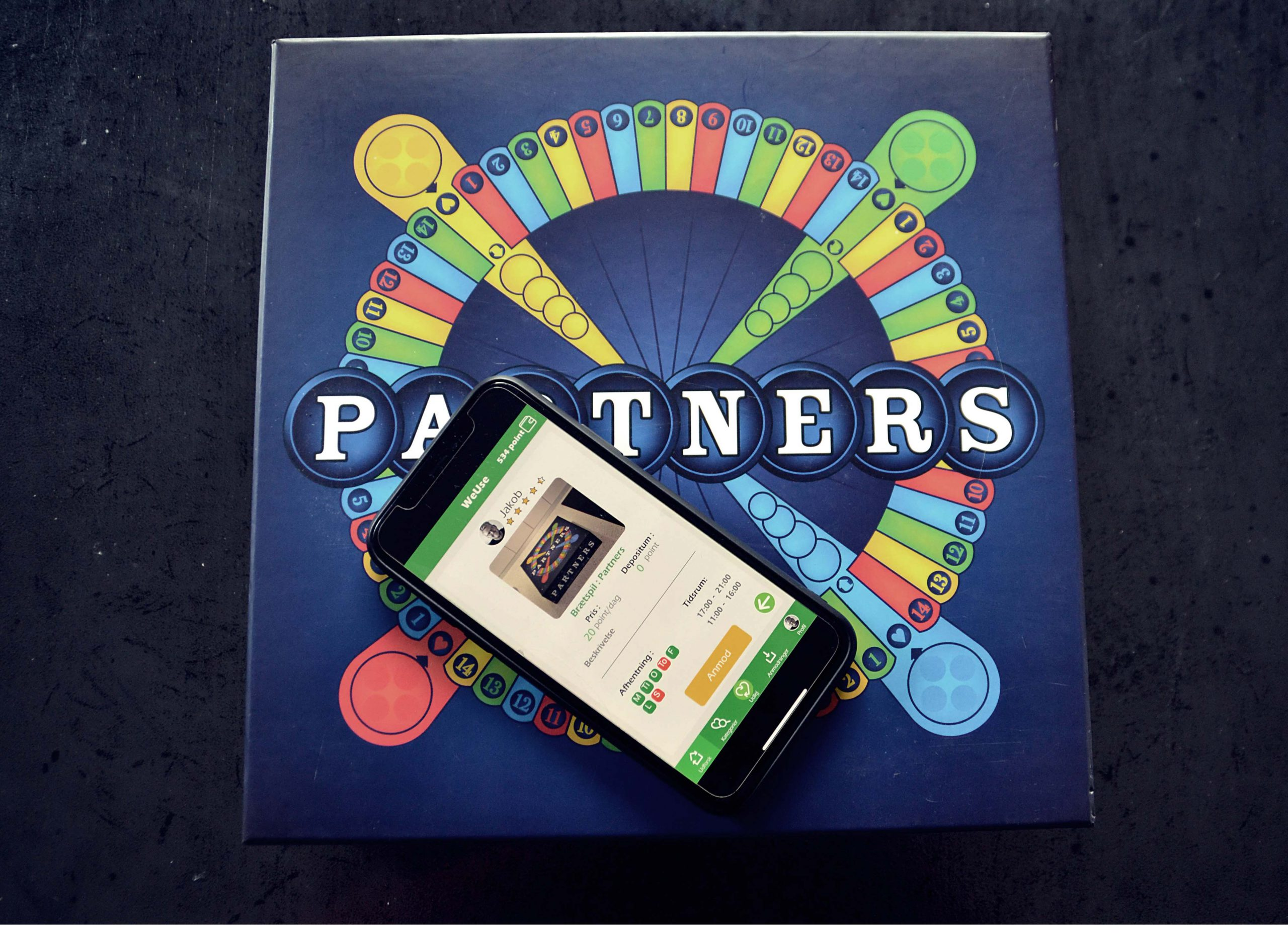 Partners board game with WeUse app